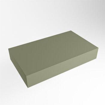 aufsatzplatte l freihängend solid surface 70 cm army...