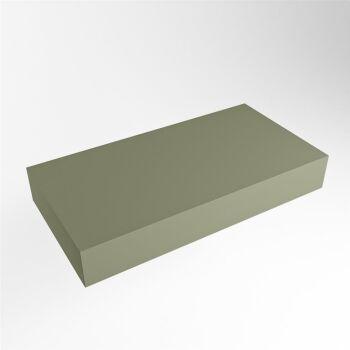 aufsatzplatte l freihängend solid surface 80 cm army...