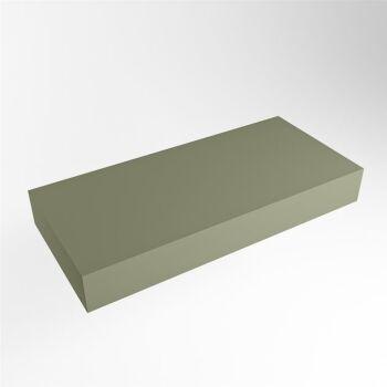 aufsatzplatte l freihängend solid surface 90 cm army...