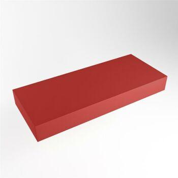 aufsatzplatte l freihängend solid surface 100 cm rot...