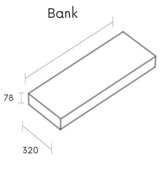 sitzbank solid surface 60 cm m80050