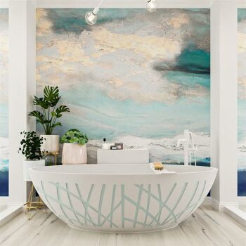 badewanne mineralwerkstoff serie holm design 180 cm minze...