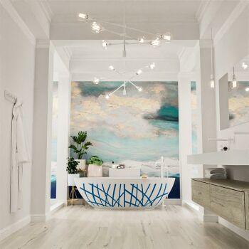 badewanne mineralwerkstoff serie holm design 180 cm blau...