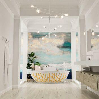 badewanne mineralwerkstoff serie holm design 180 cm gelb...