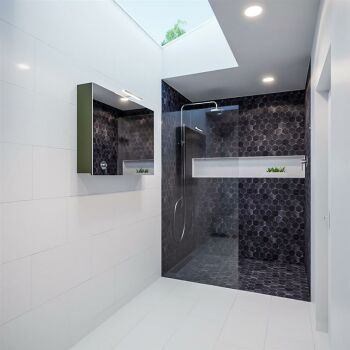 CUBB spiegelschrank 100x70x16cm farbe army grün mit...