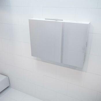 CUBB spiegelschrank 100x70x16cm farbe carrara mit 2...