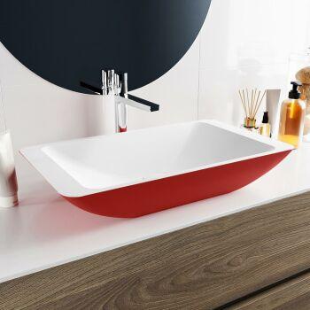 aufsatzwaschbecken solid surface topi außen Rot...