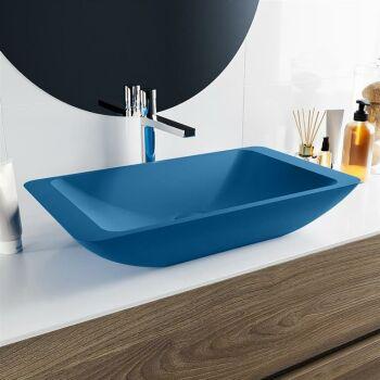 aufsatzwaschbecken solid surface topi außen Blau...