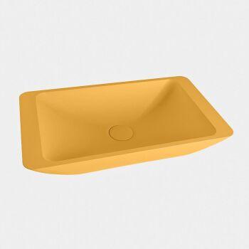 aufsatzwaschbecken solid surface topi außen Gelb...