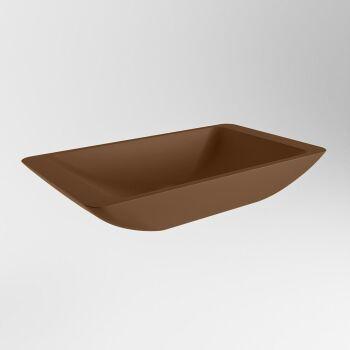 aufsatzwaschbecken solid surface topi außen Rost innen Rost 60cm M80180ru