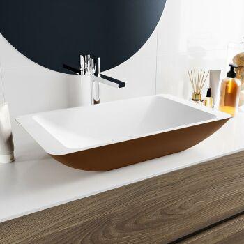 aufsatzwaschbecken solid surface topi außen Rost...