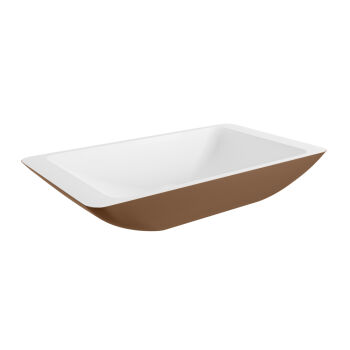 aufsatzwaschbecken solid surface topi außen Rost innen Weiß 60cm M80180rut