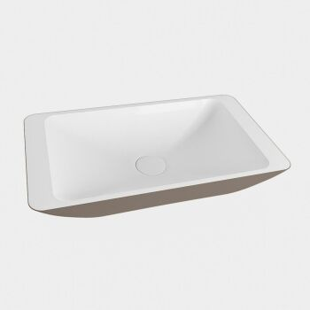 aufsatzwaschbecken solid surface topi außen Taupe...