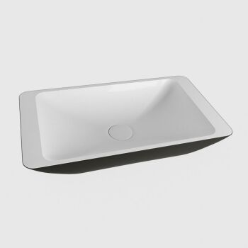 aufsatzwaschbecken solid surface topi außen Schwarz...