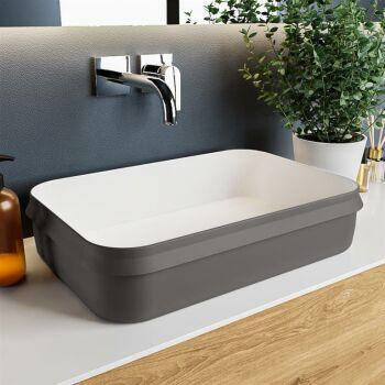 aufsatzwaschbecken solid surface arvo außen...