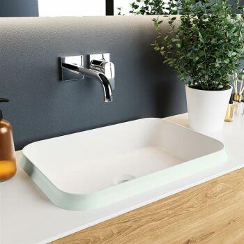aufsatzwaschbecken solid surface arvo außen Minze...