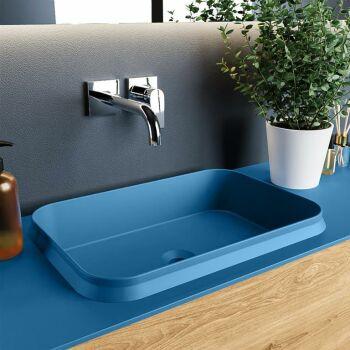 aufsatzwaschbecken solid surface arvo außen Blau...