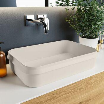 aufsatzwaschbecken solid surface arvo außen Leinen...