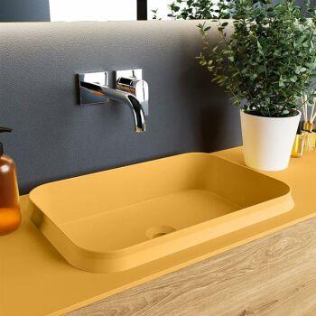 aufsatzwaschbecken solid surface arvo außen Gelb...