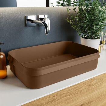 aufsatzwaschbecken solid surface arvo außen Rost...