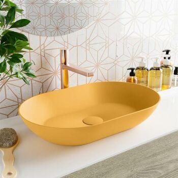 aufsatzwaschbecken solid surface omni außen Gelb...