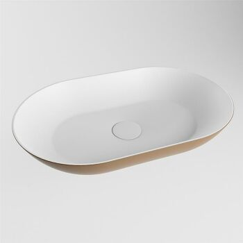 aufsatzwaschbecken solid surface omni außen Rost...
