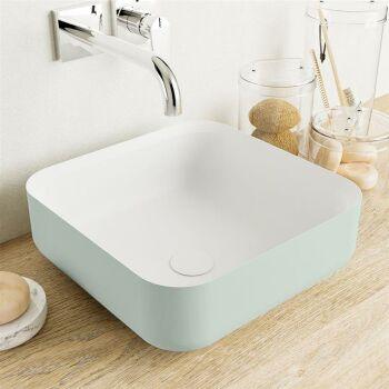aufsatzwaschbecken solid surface binx außen Minze...