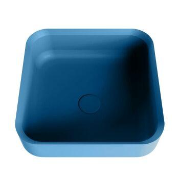 aufsatzwaschbecken solid surface binx außen Blau...
