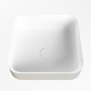 aufsatzwaschbecken solid surface binx außen Leinen...