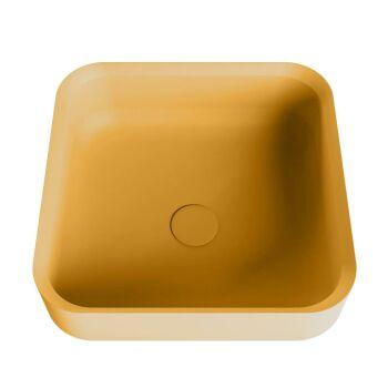 aufsatzwaschbecken solid surface binx außen Gelb...