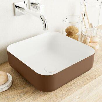 aufsatzwaschbecken solid surface binx außen Rost...