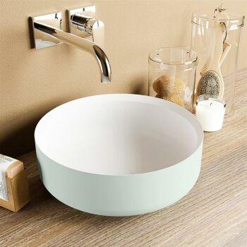 aufsatzwaschbecken solid surface coss außen Minze...