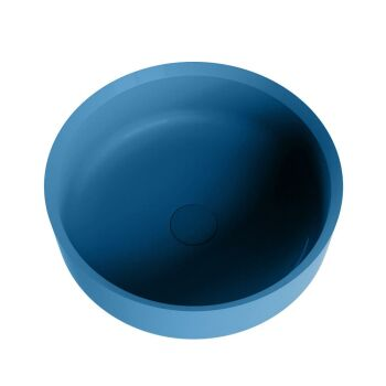 aufsatzwaschbecken solid surface coss außen Blau...