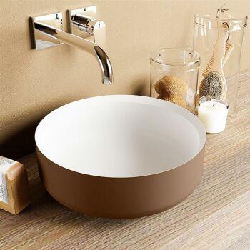 aufsatzwaschbecken solid surface coss außen Rost...