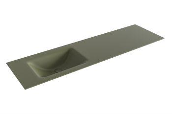 waschtisch cloud army grün 160 cm waschbecken links