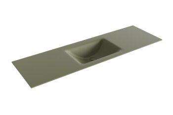 waschtisch cloud army grün 150 cm waschbecken mittig