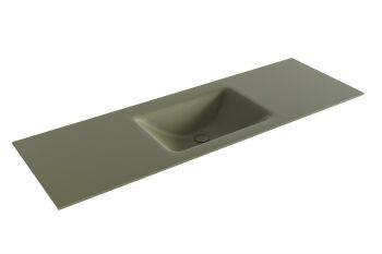 waschtisch cloud army grün 140 cm waschbecken mittig
