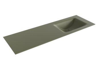 waschtisch cloud army grün 140 cm waschbecken rechts