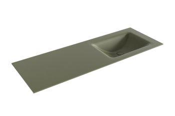 waschtisch cloud army grün 130 cm waschbecken rechts