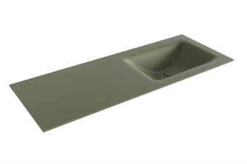 waschtisch cloud army grün 120 cm waschbecken rechts