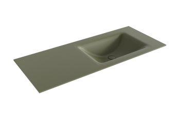 waschtisch cloud army grün 110 cm waschbecken rechts