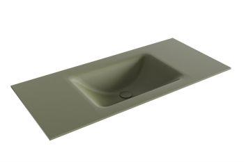 waschtisch cloud army grün 100 cm waschbecken mittig
