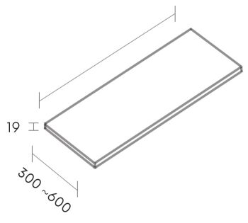 regal mdf 60 cm m80166