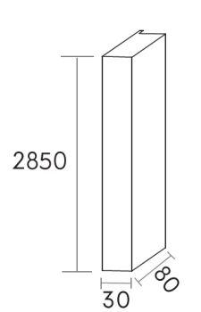 regal mdf 3x8x285 weiß m80173
