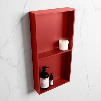 hängeregal easy solid surface 2 fächer rot 59,5 cm