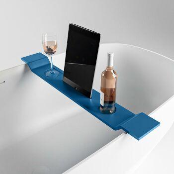 badewannenablage blau solid surface easy 86 x 12,5 x 4,2 cm