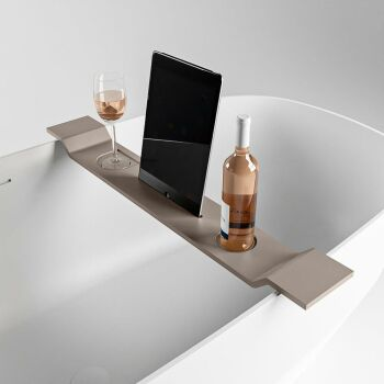 badewannenablage taupe solid surface easy 86 x 12,5 x 4,2 cm