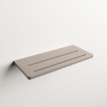 wandablage bad taupe solid surface easy 31 x 14 x 1,2 cm