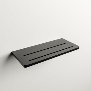 wandablage bad schwarz solid surface easy 31 x 14 x 1,2 cm