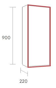 halb hoher hängeschrank lagom solid surface m64198